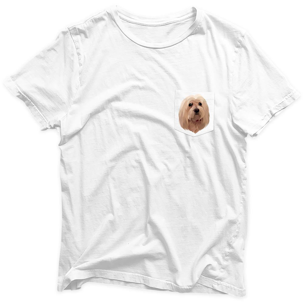 Bespoke illustrated pet pocket tee - lovepaw