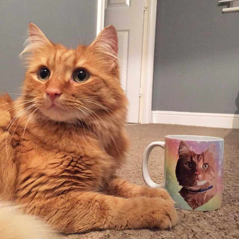 Bespoke illustrated pet mug - lovepaw