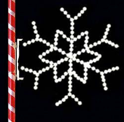 Image of Snowflake shaped star for decorating lamp poles in parking lots