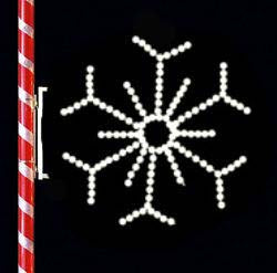 Image of White Snowflake to hang from street lamps and parking lot poles