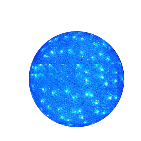 Image of Blue Acrylic lighted 3D large outdoor Christmas ball lights