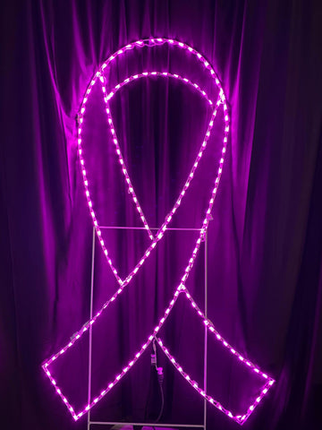 breast cancer awareness pink ribbon lights
