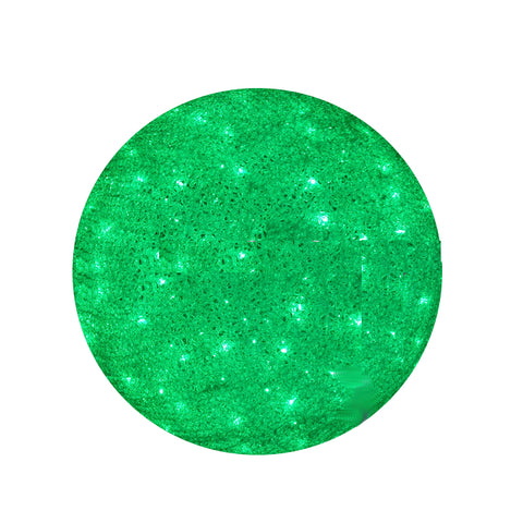 Image of Green Acrylic lighted 3D large outdoor Christmas ball lights