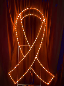 7 foot tall orange awareness ribbon light up decoration