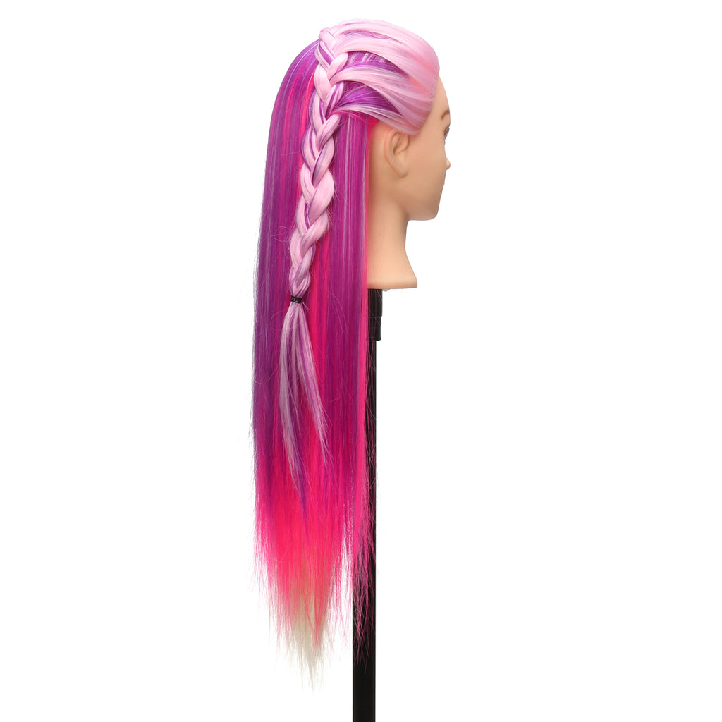 Practice Training Head Long Hair Mannequin Hairdressing Salon Model