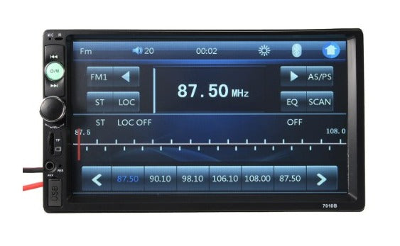 Car Stereo With Bluetooth, 7 inch Touch Screen Radio, with AUX, Rear View Camera and Remote Control