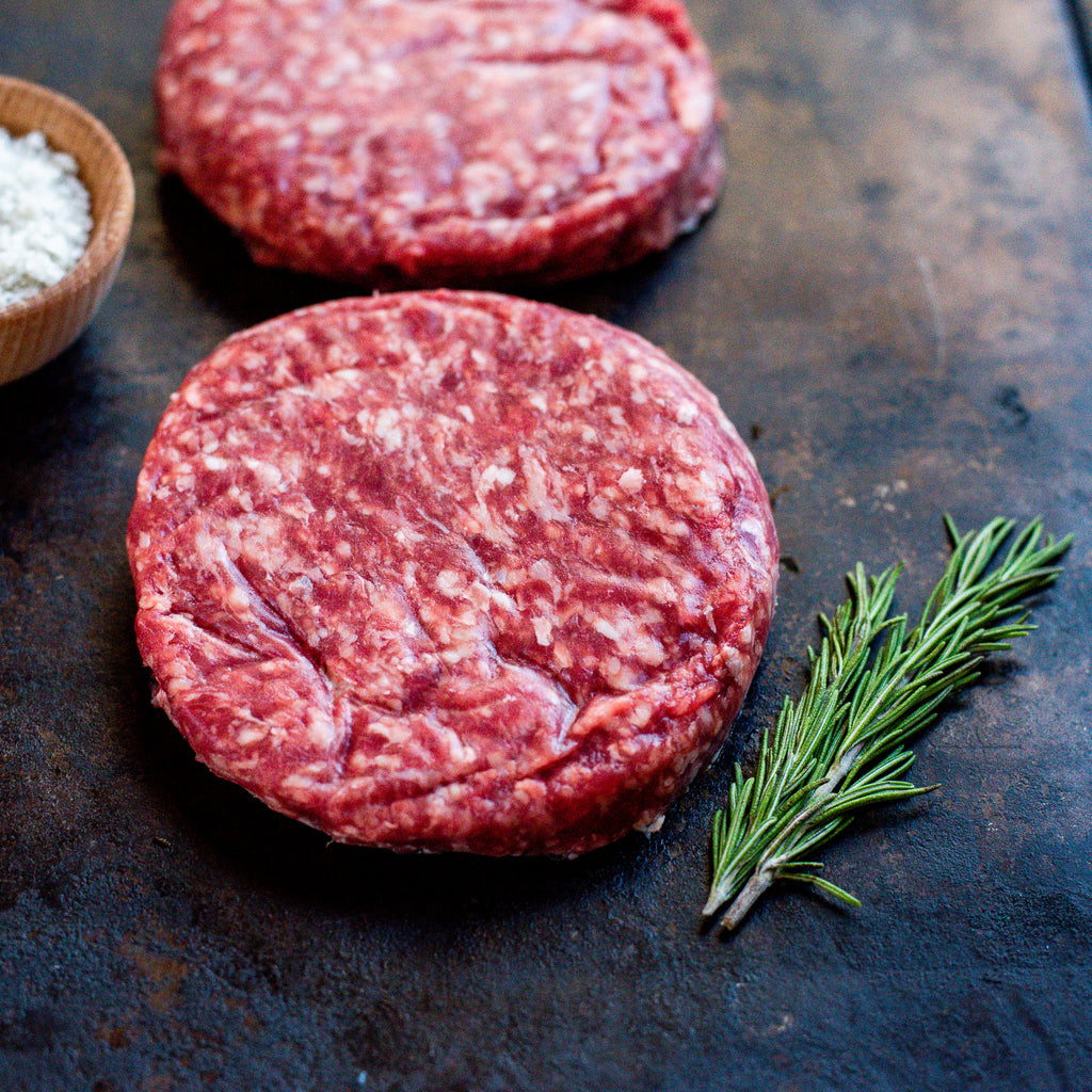 Organic Grass Fed Ground Beef Patties 1