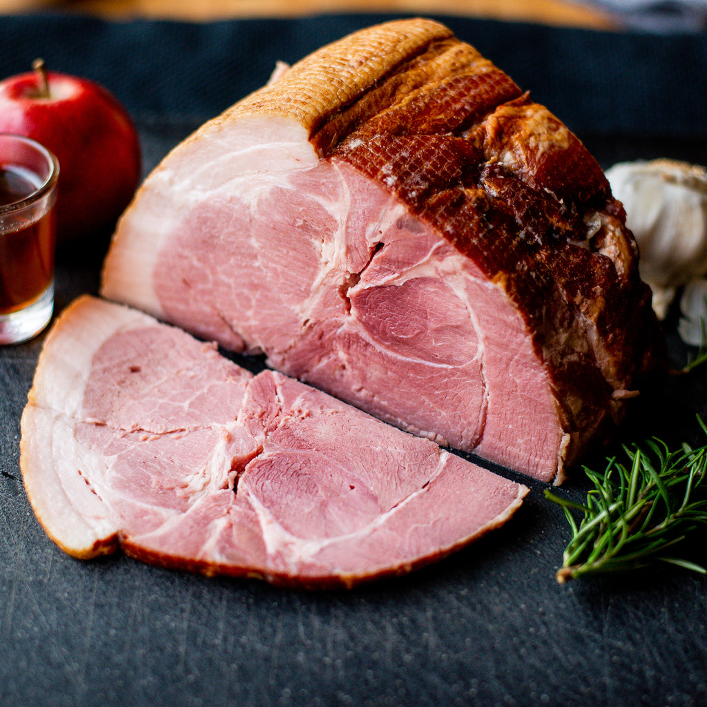 Pastured Pork Smoked Holiday Ham, Large Bone-In