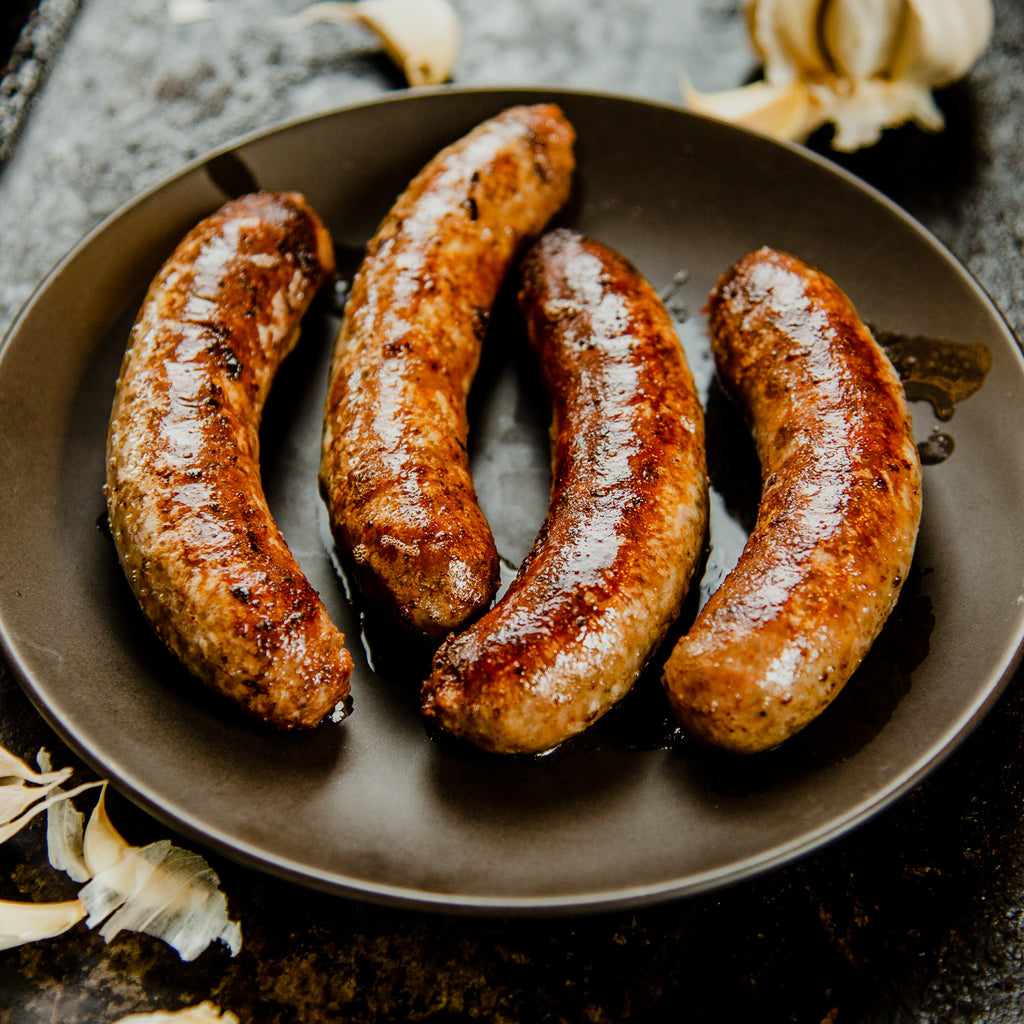 Beef & Pastured Pork Garlic Sausage