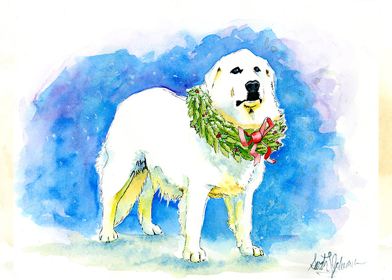 Christmas Gift Card: A Pyrenees for Christmas by Sarah Johnson
