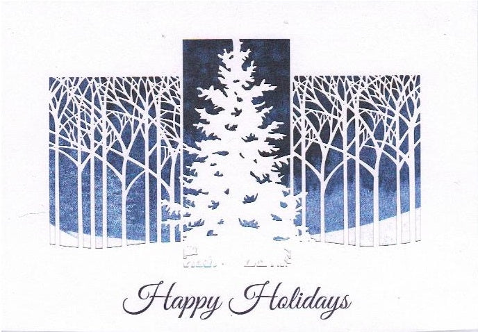 Christmas Gift Card: Happy Holidays Tree