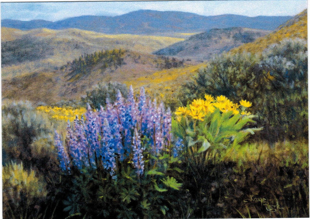 Gift Card by Kaye York: Lupine