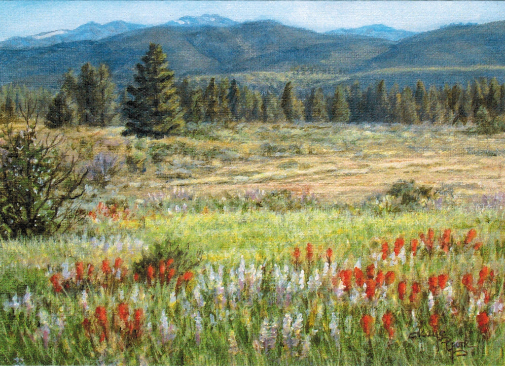 Gift Card by Kaye York: Paintbrush and Lupine