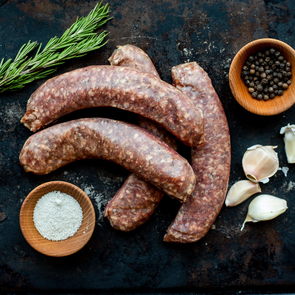 Alderspring Ranch Organic Grass Fed Beef Garlic Sausage 1