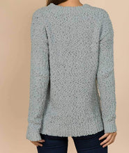 Load image into Gallery viewer, V-Neck Popcorn Sweater