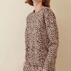 Blush Leopard Sweat Shirt