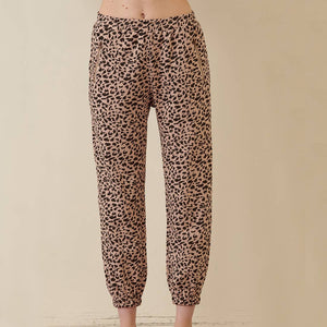 Blush Leopard Sweat Pants