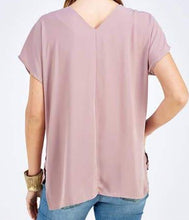 Load image into Gallery viewer, Mauve V-Neck Blouse