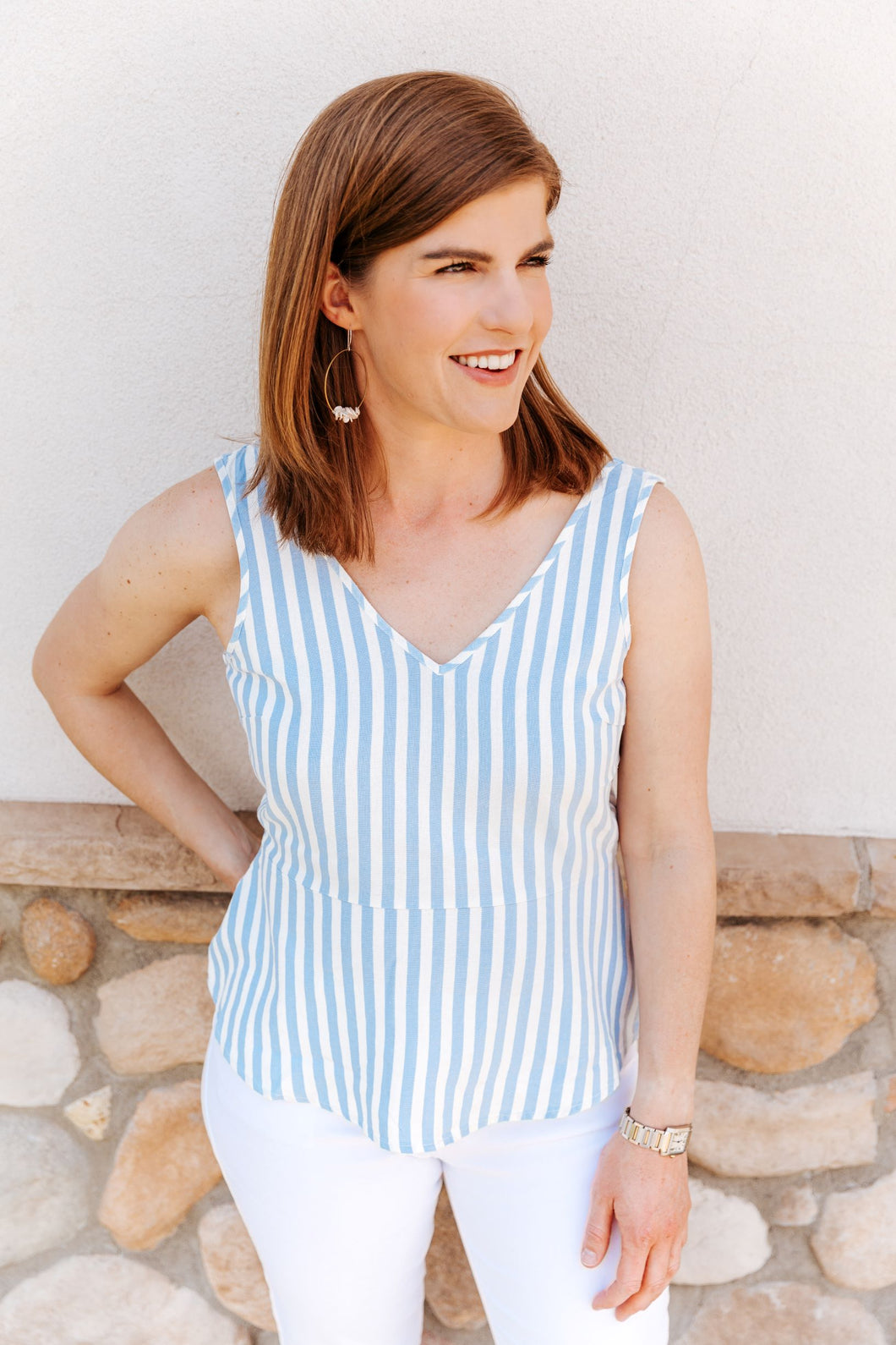 Placid Blue Striped Top