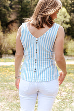 Load image into Gallery viewer, Placid Blue Striped Top