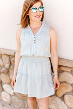 Load image into Gallery viewer, Pin Striped Light Blue Dress