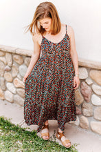 Load image into Gallery viewer, Floral Navy Maxi Dress