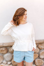 Load image into Gallery viewer, Cream Long Sleeve Top (1 L & 1 XL)