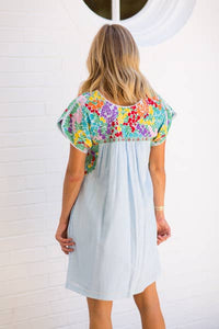 Embroidered Margaret Dress