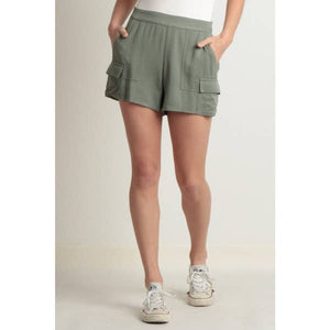 Green Pocket Shorts