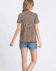 Animal Cap Sleeve Top