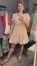 Load and play video in Gallery viewer, Peach Eyelet Dress