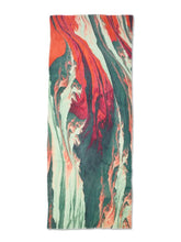 Load image into Gallery viewer, Green & Pink Paint Mix Scarf
