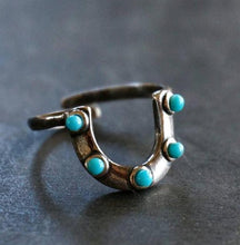Load image into Gallery viewer, Horseshoe Turquoise Ring