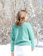 Load image into Gallery viewer, Teal Pom Pom Sweater