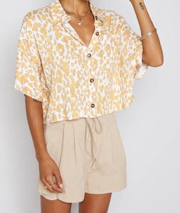 Beach Comber Button Down Crop Top