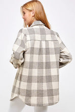 Load image into Gallery viewer, Flannel Gray Plaid Jacket (1 M & 1 L)