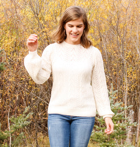 Warm White Open Knit Sweater