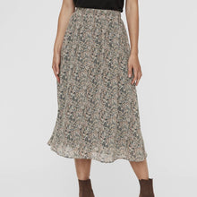 Load image into Gallery viewer, Black Brown Patterned Midi Skirt