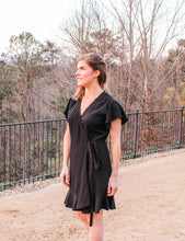 Load image into Gallery viewer, Black Wrap Dress