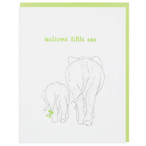 Elephant New Baby Card