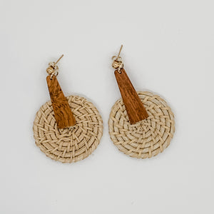 Straw & Wood Earrings