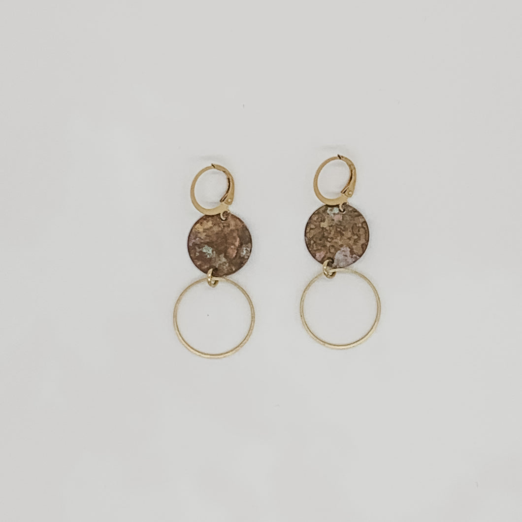 Circle on Circle Earrings