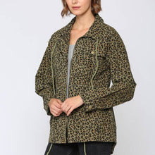 Load image into Gallery viewer, Leopard Print Anorak Jacket