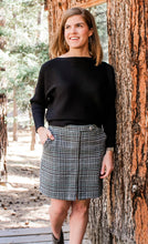 Load image into Gallery viewer, Plaid Wool Short Skirt