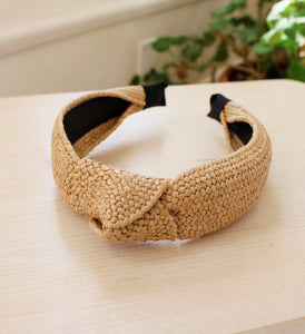 Natural Raffia Headband