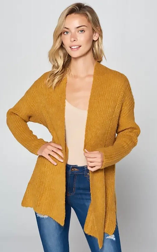 Mustard Side Slit Sweater (M/L only)