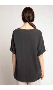 Black Washed V-Neck