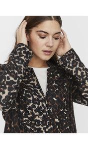 Brushed Leopard Jacket