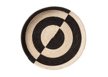 Load image into Gallery viewer, Mwezi Black & Natural Raffia Tray