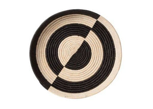 Mwezi Black & Natural Raffia Tray